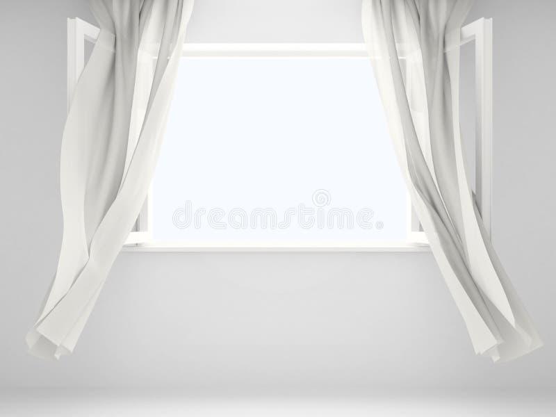 窗帘视窗 向量例证