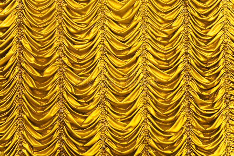 窗帘金子纹理 库存照片