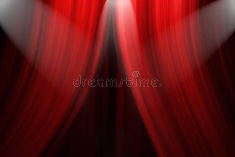 窗帘阶段剧院 向量例证