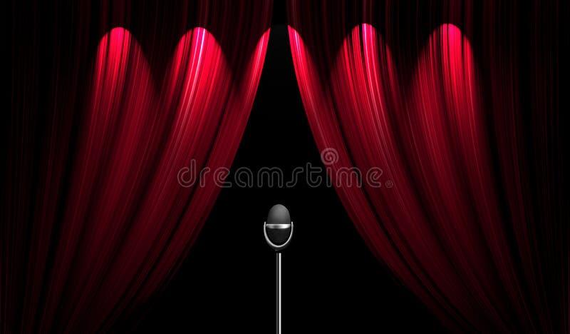 窗帘阶段剧院 库存例证