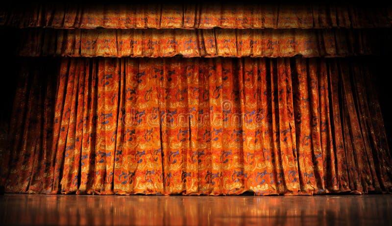 窗帘阶段 图库摄影
