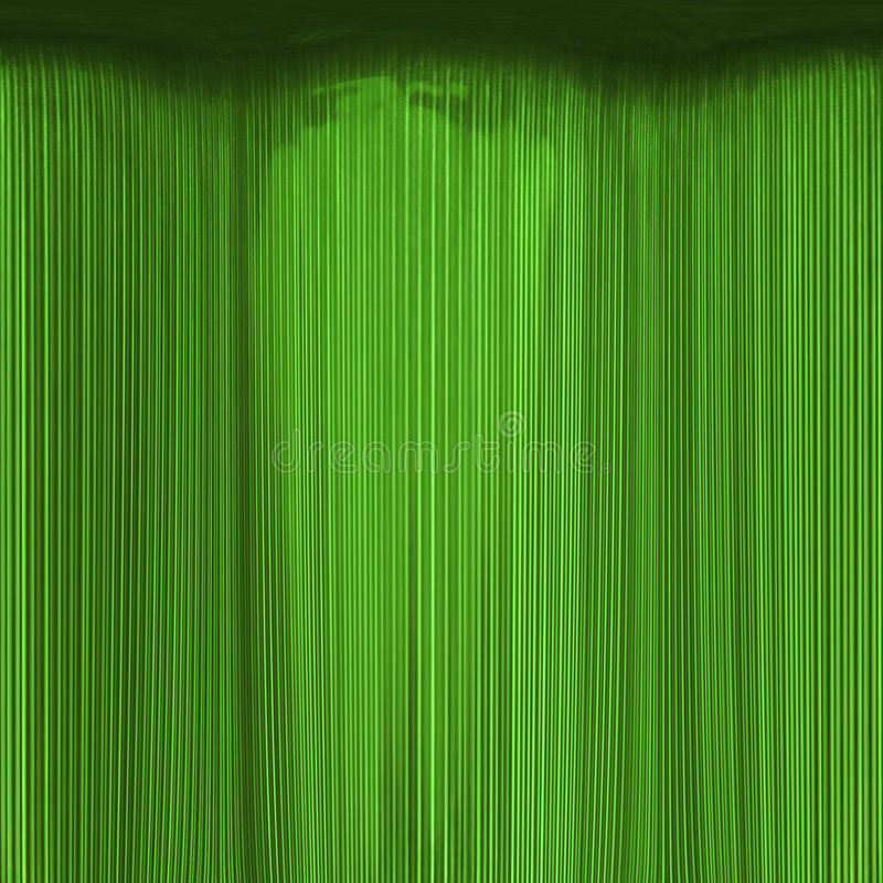 窗帘鲜绿色纹理 库存例证