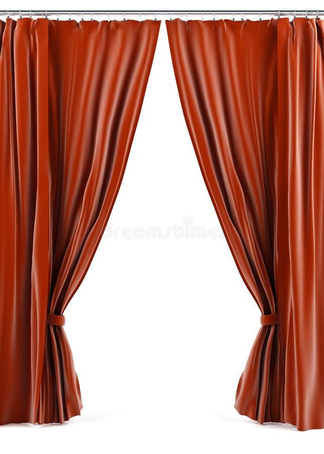 窗帘 向量例证
