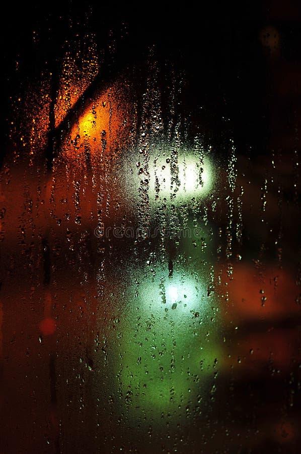 窗格湿视窗 库存图片