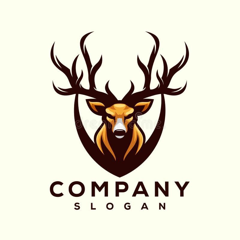 立即可用令人敬畏的鹿商标的设计 皇族释放例证