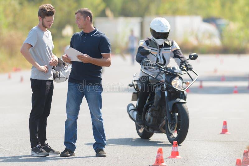 立即可用的摩托车 免版税库存照片