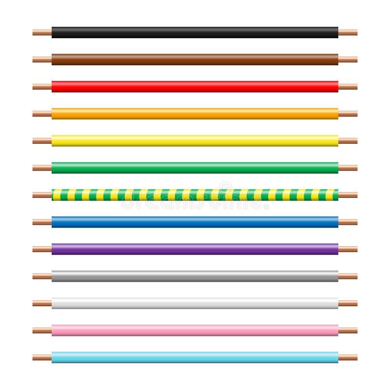 立即可用的电导线传染媒介无缝的样式刷子 向量例证