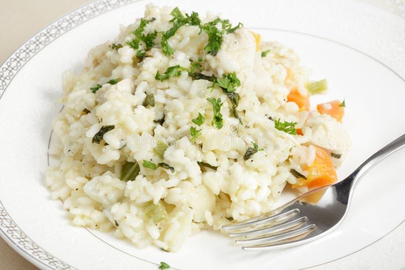 立即可食鸡的意大利煨饭 免版税库存图片