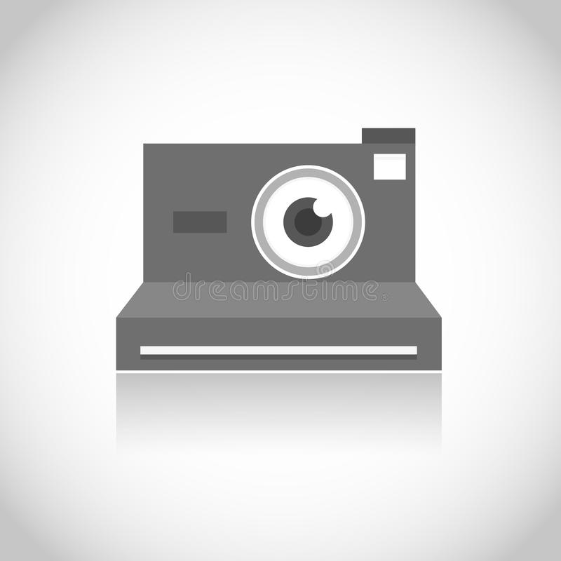 立即照片摄象机镜头眼睛 向量例证