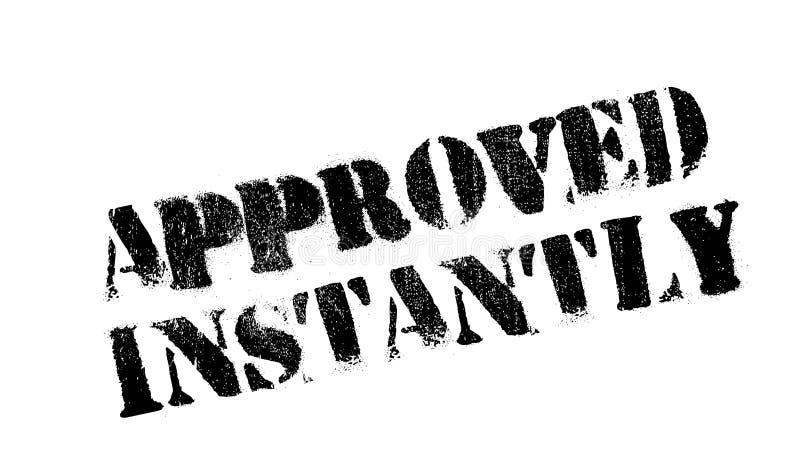 立即被批准的不加考虑表赞同的人 向量例证