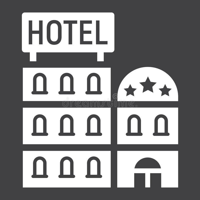 建立坚实象、旅行和旅游业的旅馆 库存例证