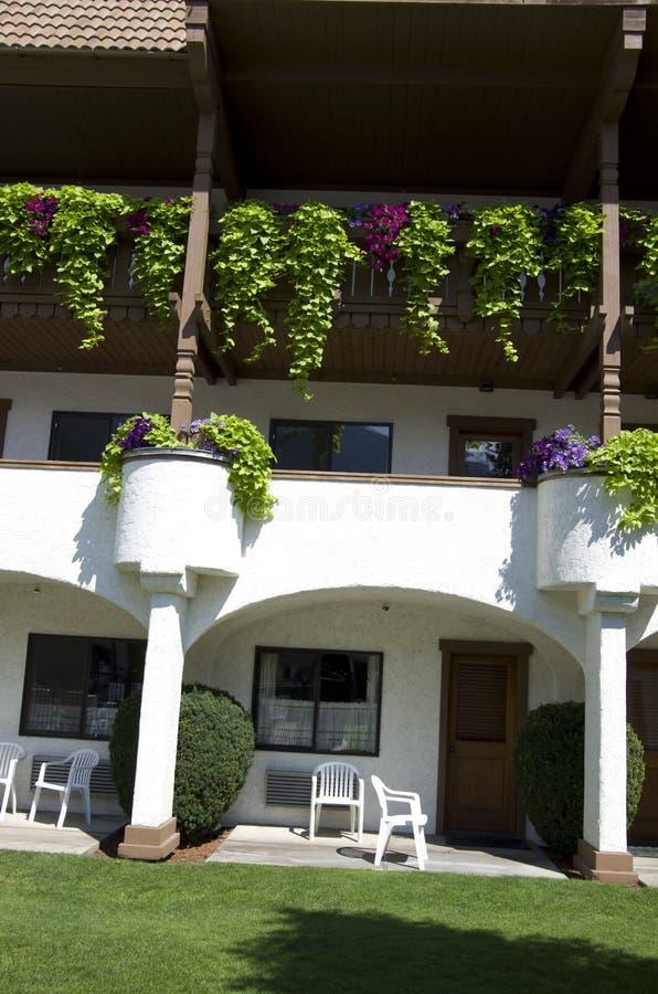 建立德国建筑学的旅馆 免版税库存图片