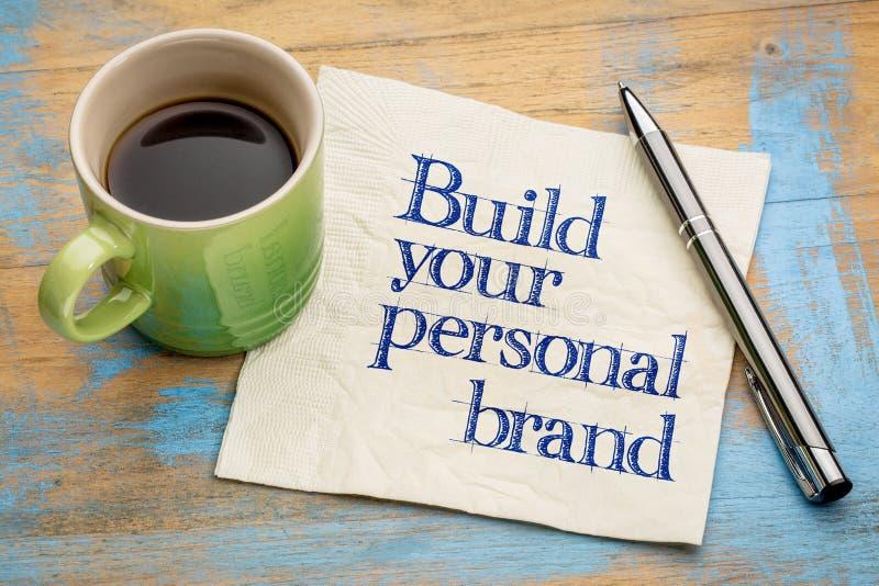 建立您的个人品牌忠告 免版税库存照片