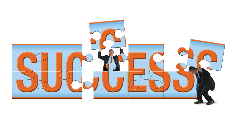 建立成功难题  库存例证
