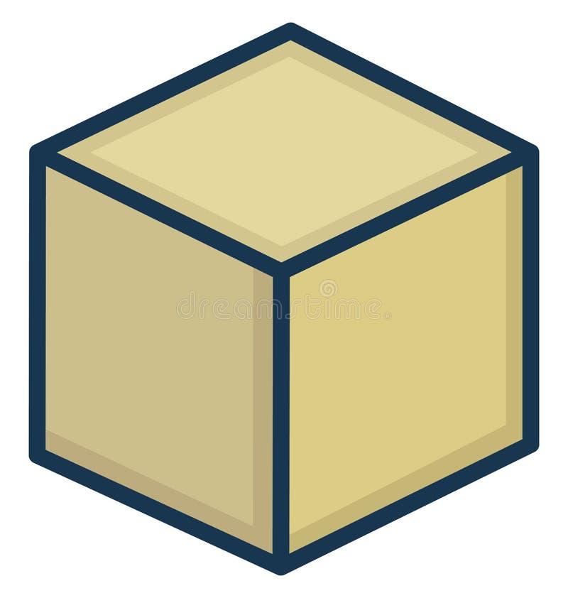 立方体可以容易地修改或被编辑的被隔绝的传染媒介象 向量例证