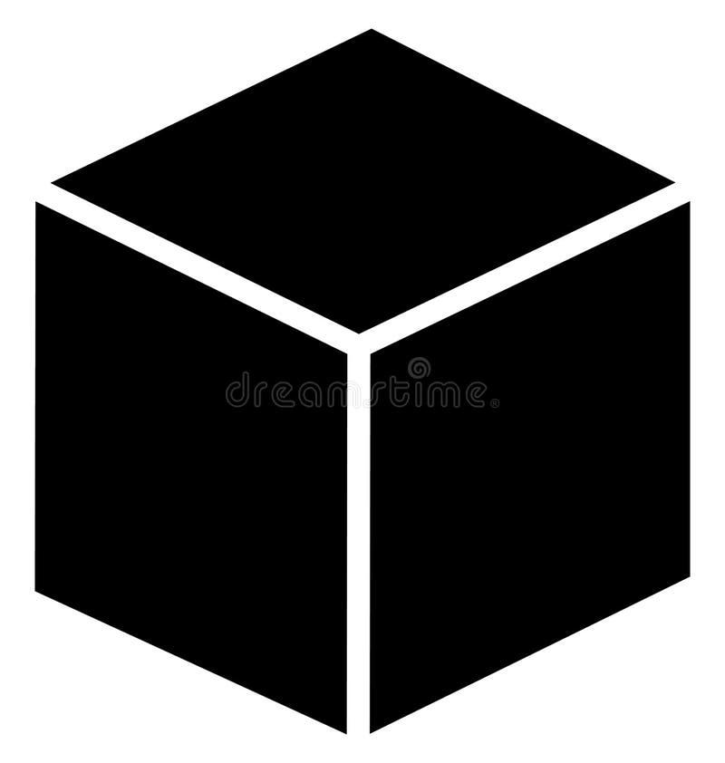 立方体可以容易地修改或被编辑的被隔绝的传染媒介象 皇族释放例证