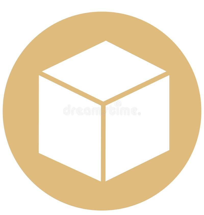 立方体可以容易地修改或被编辑的被隔绝的传染媒介象 库存例证