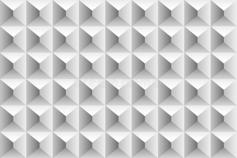 立方体和三角灰色容量样式 免版税库存照片