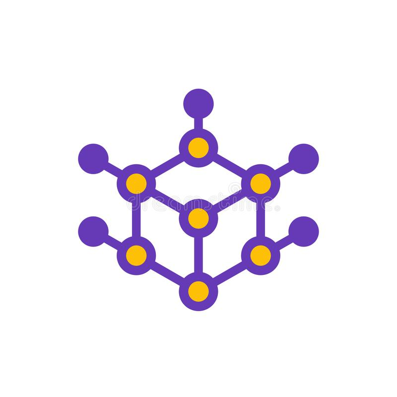立方体商标设计,传染媒介例证 皇族释放例证