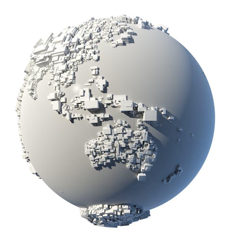 立方体地球行星结构 向量例证