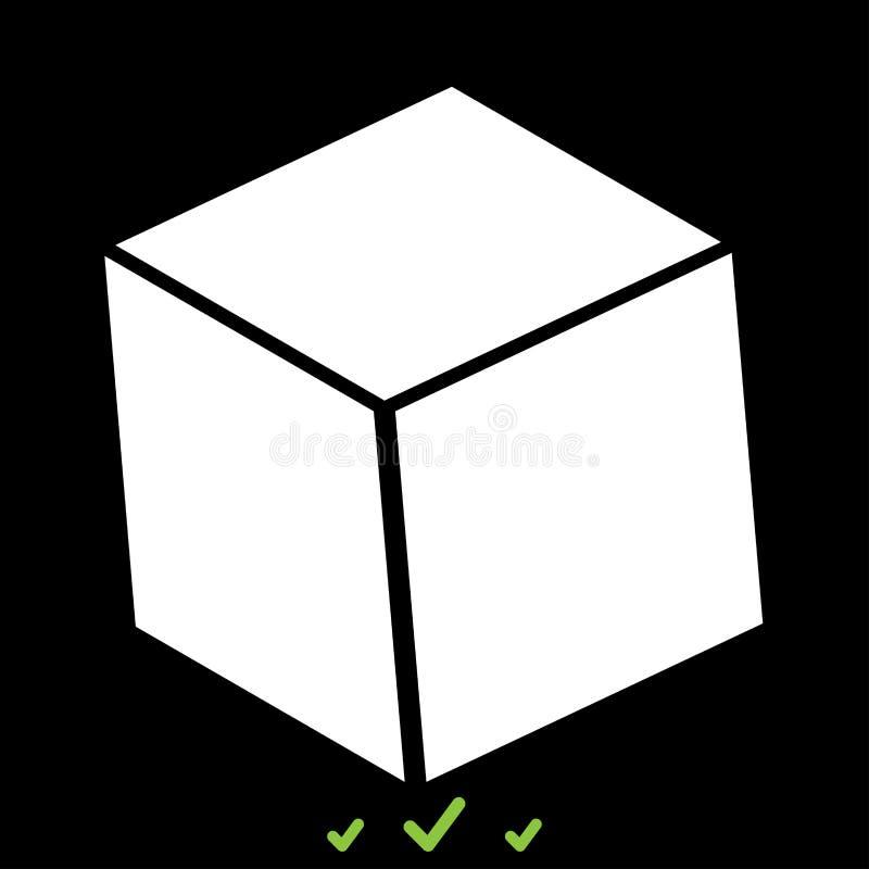 立方体它是白色象 向量例证