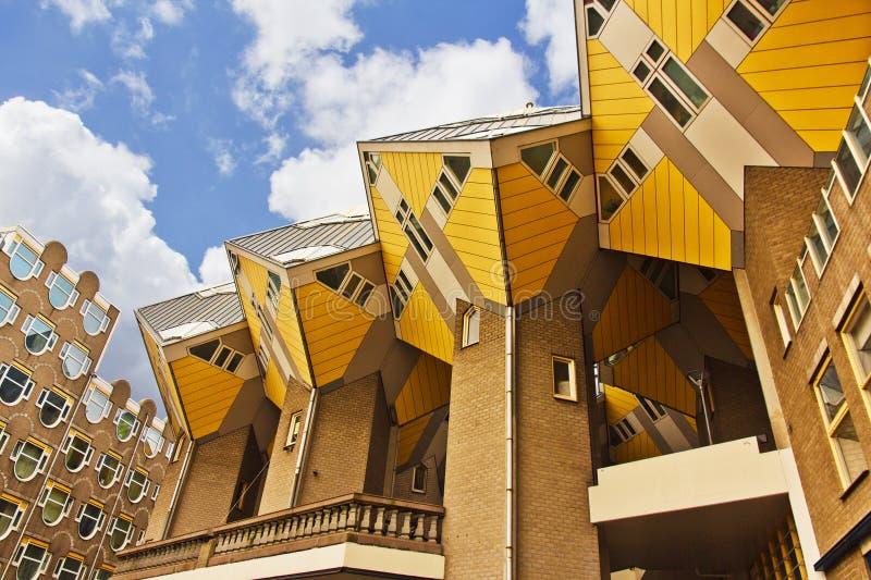 立方体房子在鹿特丹 免版税图库摄影