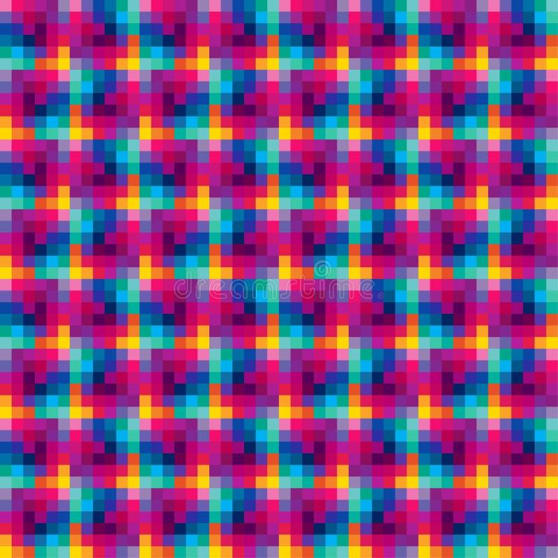 立方体数字式无缝 库存例证