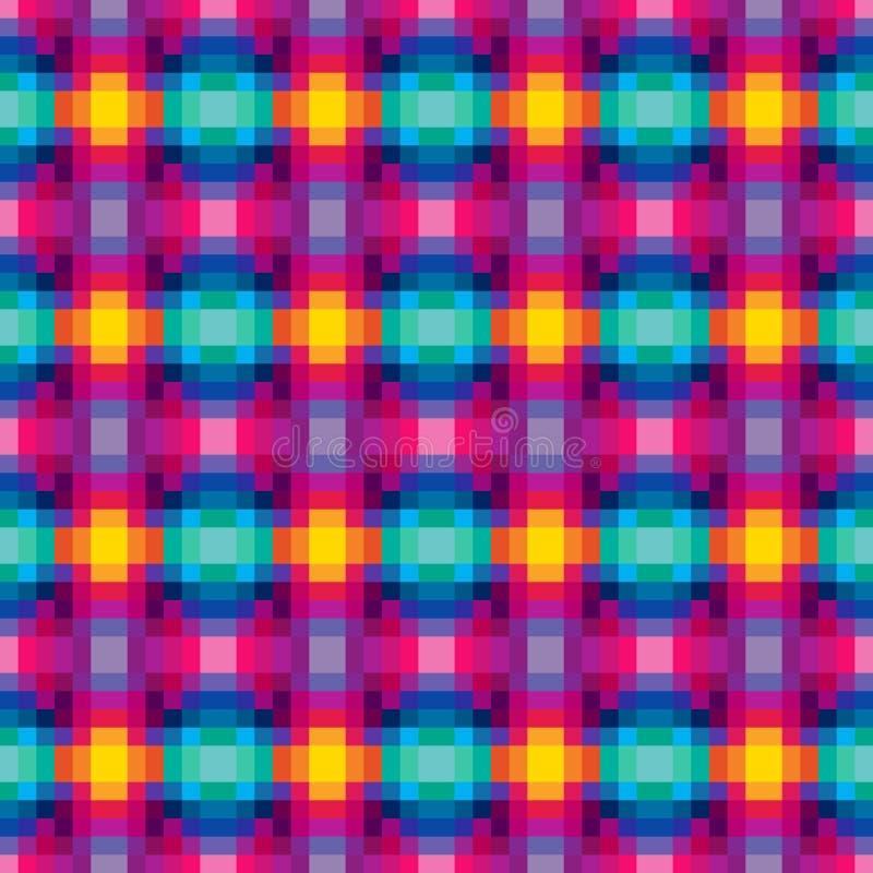 立方体数字式无缝 皇族释放例证