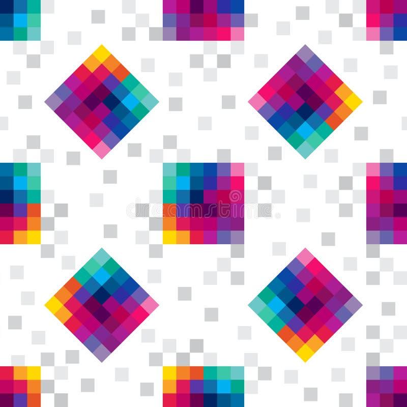 立方体数字式无缝 向量例证