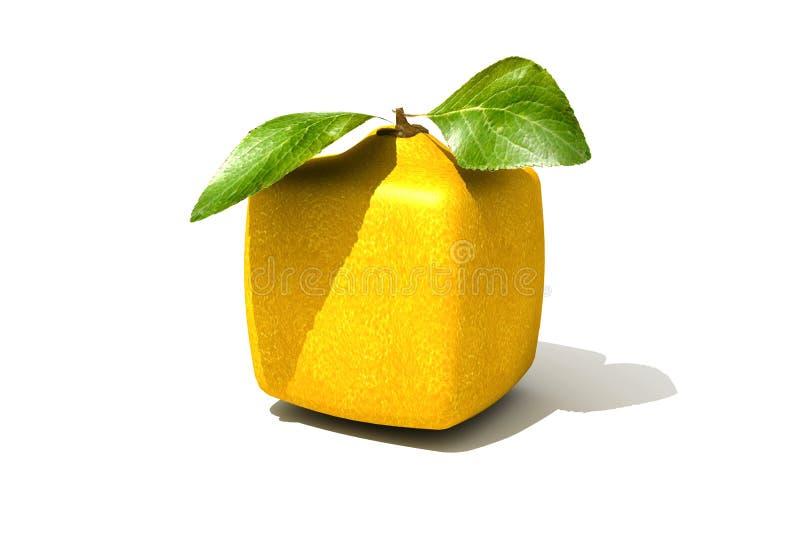 立方体柠檬 皇族释放例证