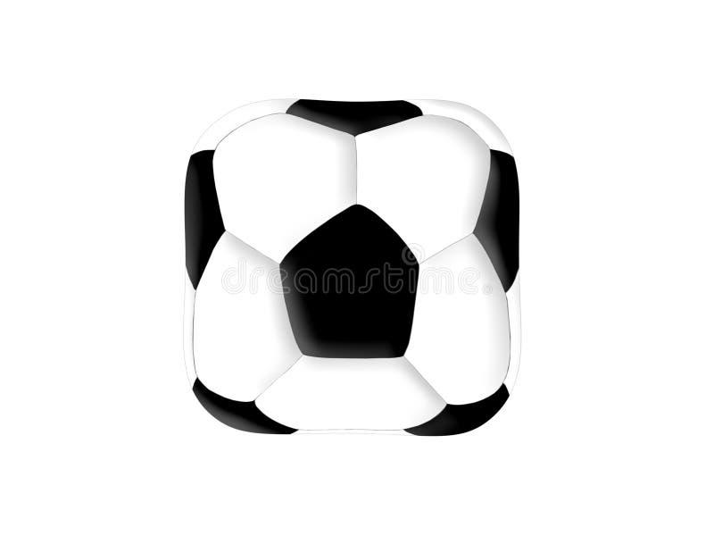 立方体橄榄球 库存例证