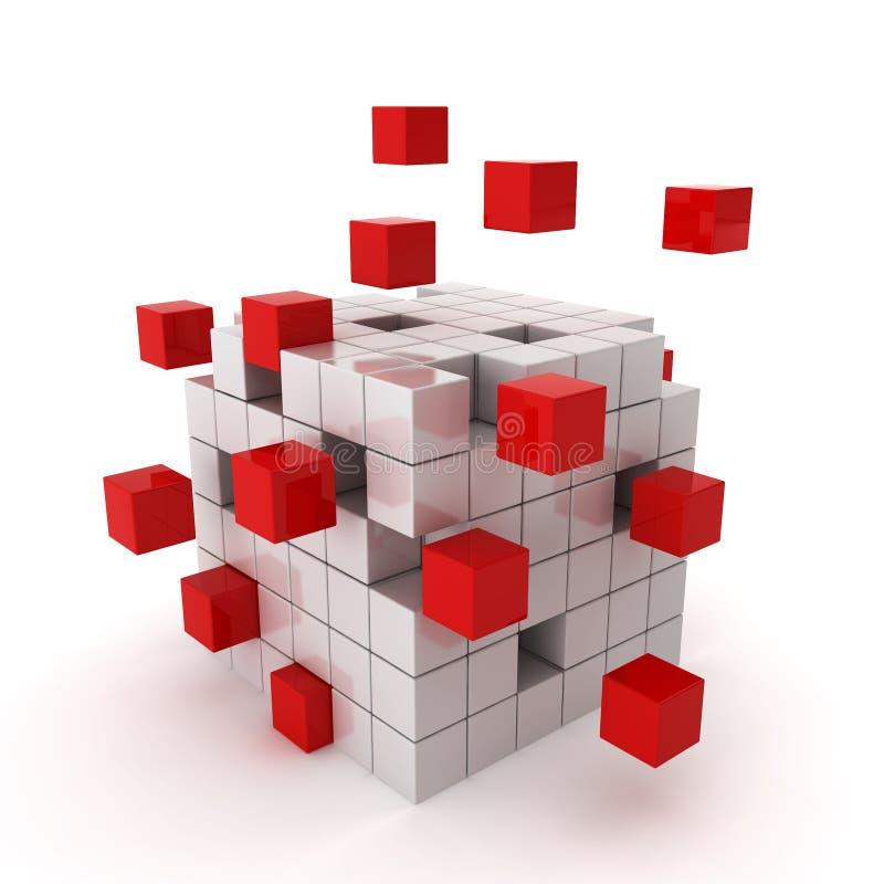 立方体混乱 向量例证