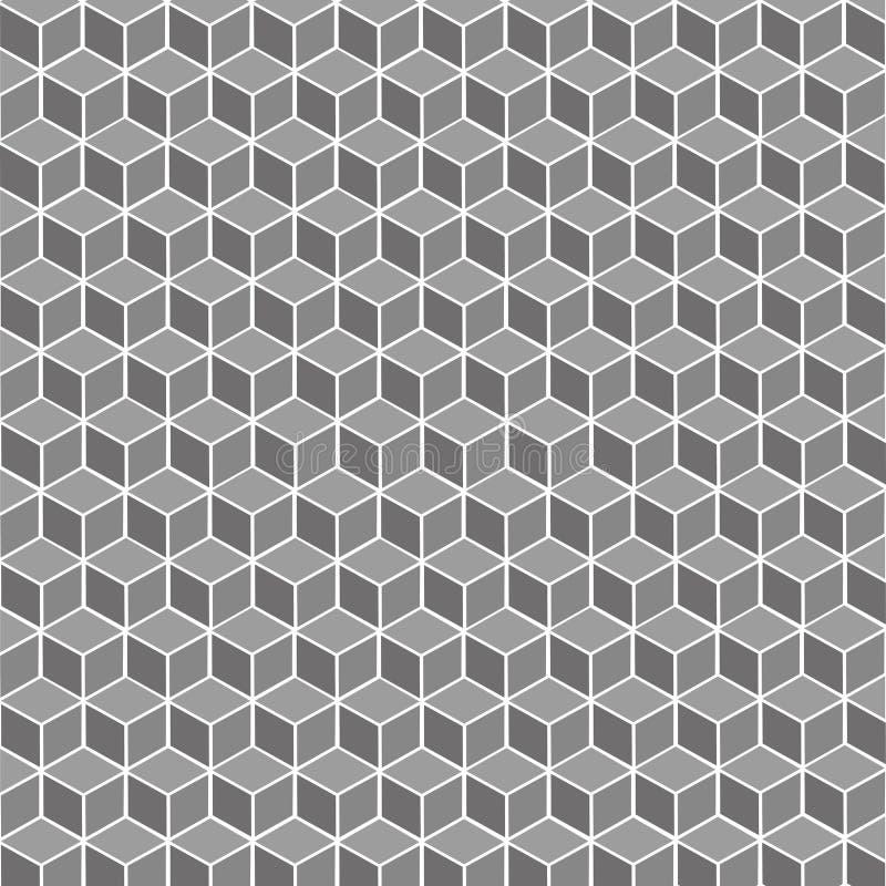 立方体灰色几何背景-传染媒介 库存例证