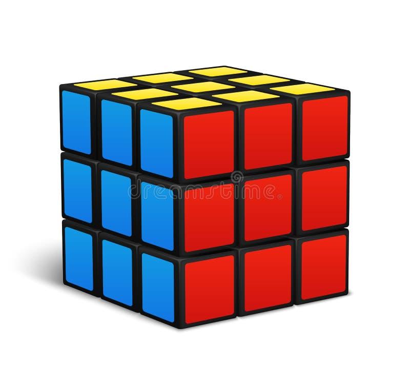 立方体玩具难题传染媒介例证 向量例证