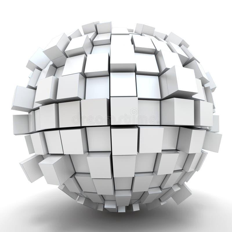 立方体球形 皇族释放例证
