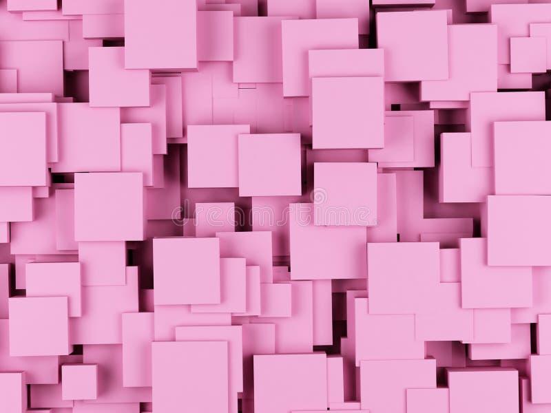 从立方体的抽象几何形状 3d翻译 库存例证