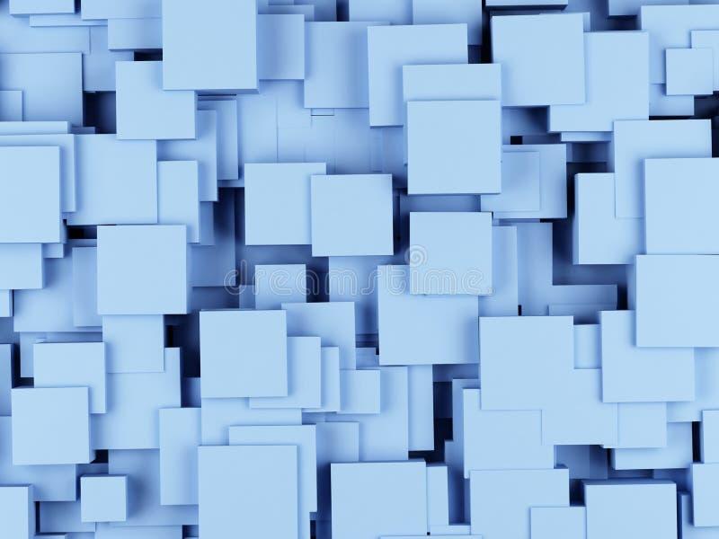 从立方体的抽象几何形状 3d翻译 皇族释放例证