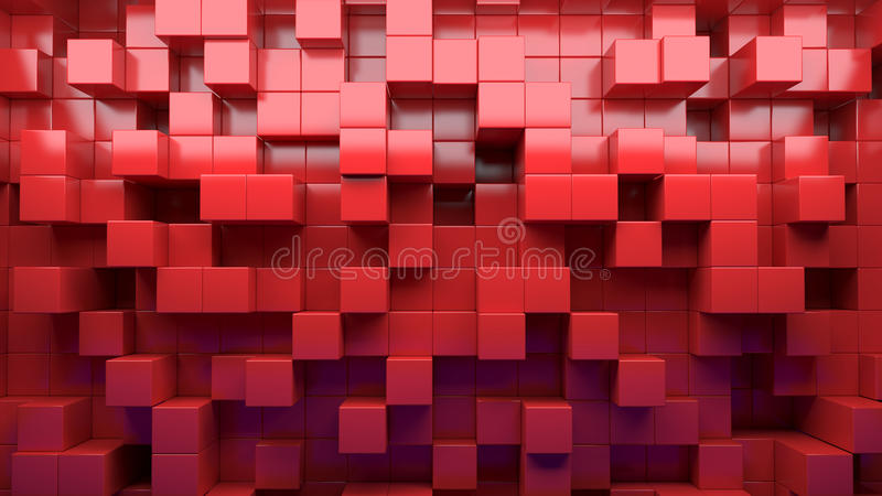立方体的抽象图象仿造与透视的背景 皇族释放例证