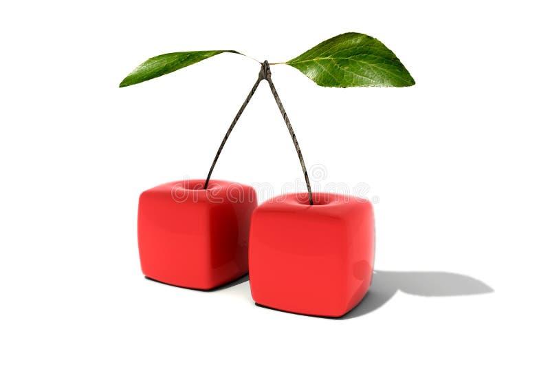 立方体的樱桃 库存例证