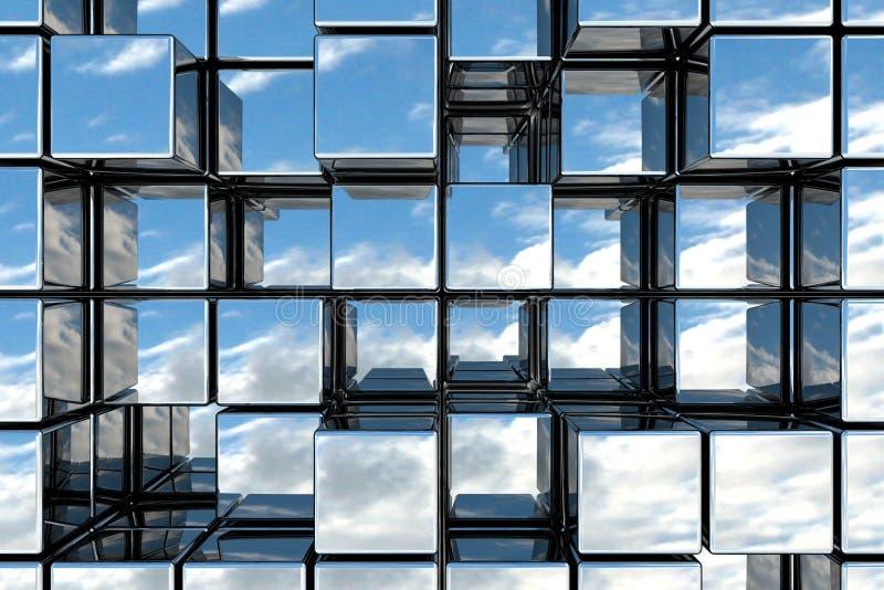 立方体空间 皇族释放例证