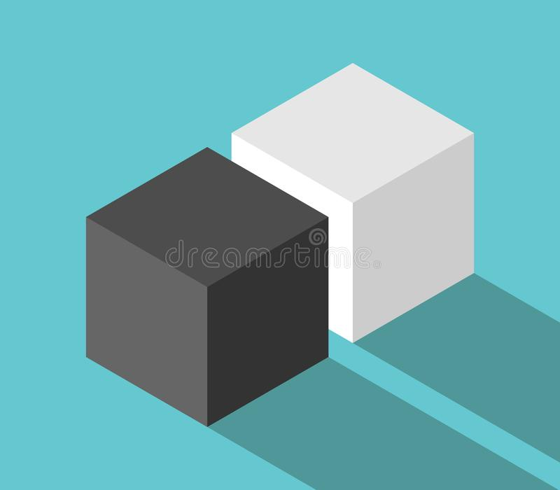 立方体等量夫妇  皇族释放例证