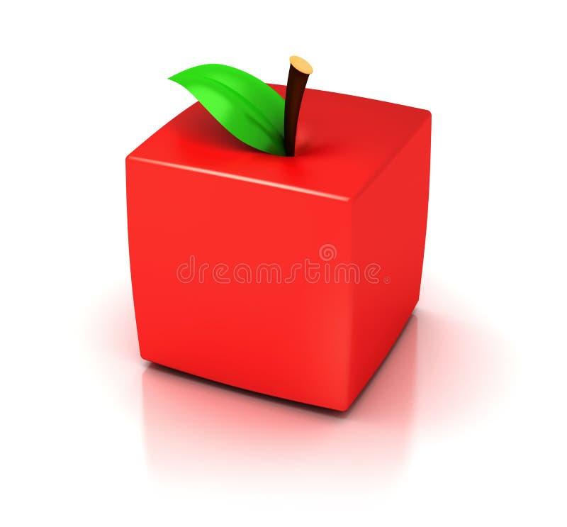 立方体苹果 向量例证