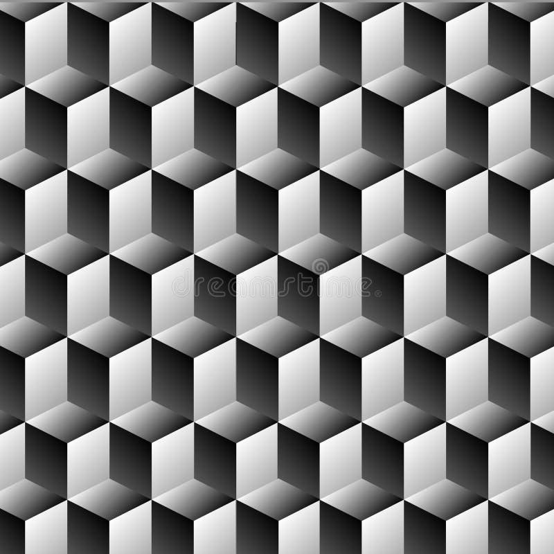立方体行错觉 向量例证