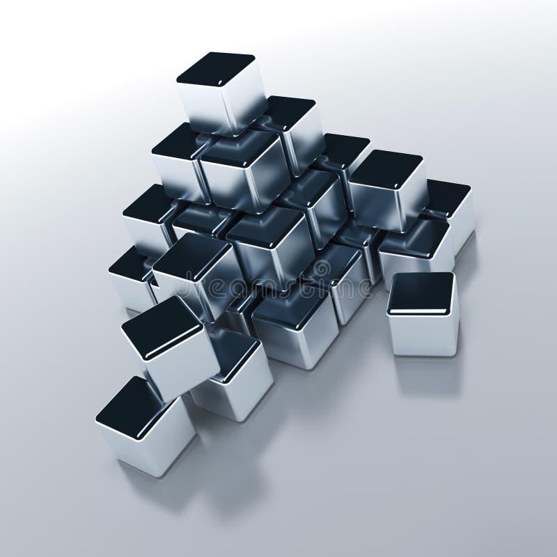 立方体表单对象 库存例证