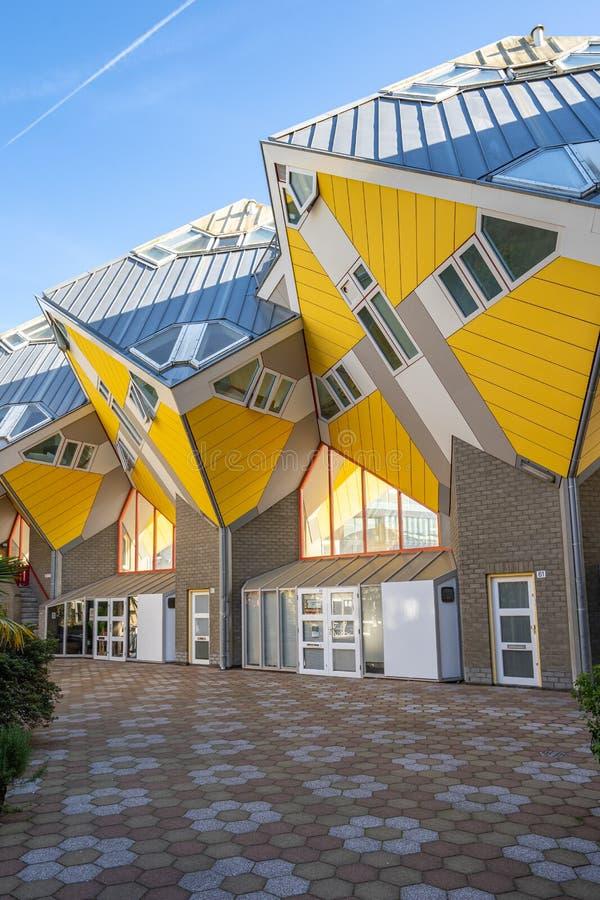 立方体议院是在鹿特丹建造的一套创新房子,荷兰 库存照片