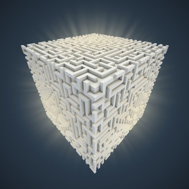 立方体迷宫 皇族释放例证