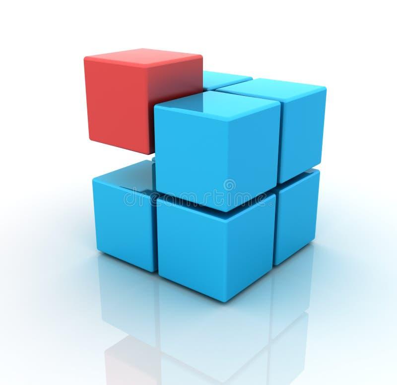 立方体 向量例证