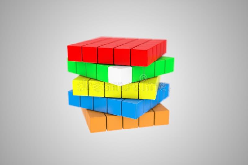 立方体 库存例证