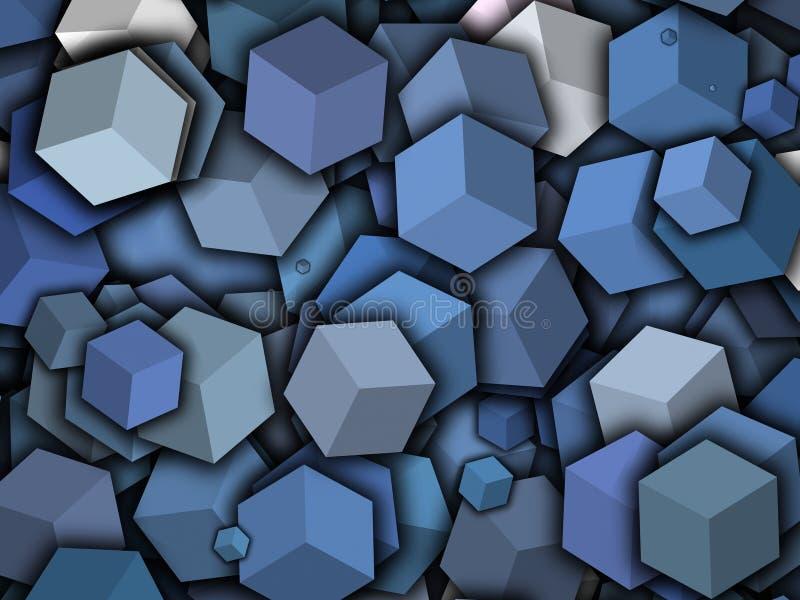 立方体caartoon 向量例证