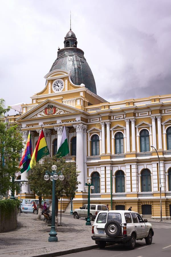 立法宫殿,政府的位子在拉巴斯,玻利维亚 免版税库存照片